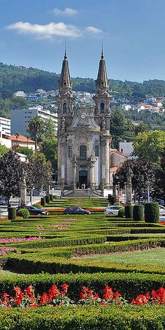 Guimaraes – Portugal. I tried so hard to take a picture of this church that would be this awesome! Of course I found it on Pinterest!   RePinned by : www.powercouplelife.com