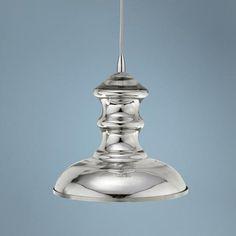 Jamie Young St Croix Mercury Glass Pendant Chandelier