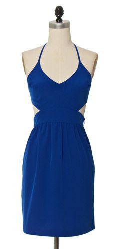 Cute! Tied Up Blue Dress