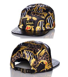 jimmyjazz.com #jimmyjazz CHUCK Camper style strapback cap  Adjustable strap on back of hat for ultimate comfort  Silk feel base  All-over leather brim  Abstract ropes print