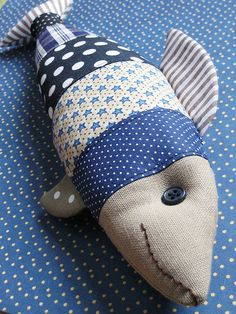 blue fish | Flickr - Photo Sharing Would be such a cute gift at a baby shower