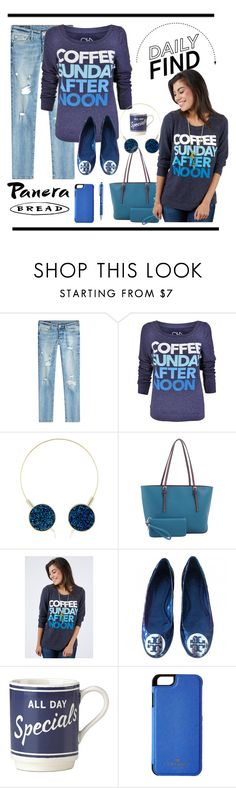 """""""Sunday Afternoon Coffee"""" by conch-lady ❤ liked on Polyvore featuring True Religion, Deluxity, Tory Burch, Kate Spade, DailyFind, ChaserBrand and goldnebulaheadphones"""