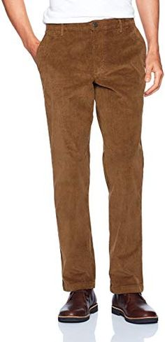Lutratocro Mens Corduroy Solid Business Casual Straight Slim Fit Long Pants