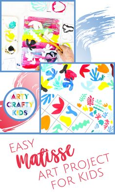 Easy Matisse Art Project for Kids - A Henri Matisse art idea for kids of all ages with inspiration shape templates to inspire, draw or cut out. Easy Art For Kids, Creative Activities For Kids, Creative Arts And Crafts, Arts And Crafts Projects, Projects For Kids, Creative Kids, Free Printable Art, Printable Crafts, Matisse Art