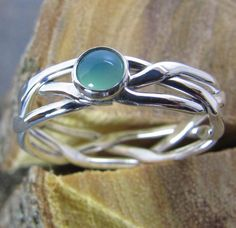 Argentium Sterling Silver Ring Braided and by DogsKinJewelry
