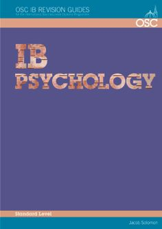 This comprehensive International Baccalaureate (IB) revision guide covers the core and optional material for standard level Psychology Papers 1 and 2. Each chapter brings the components of the course