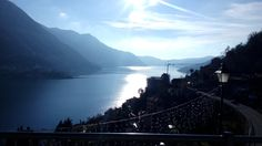 A winter lake como walking activity with a great view!