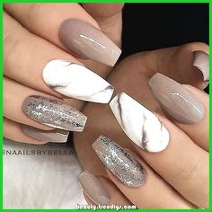Creative mismatched glitter and marble nail art design ideas Add to favorites – Nails Club Nail Art Designs, Marble Nail Designs, Marble Nail Art, Nail Designs Spring, Acrylic Nail Designs, Nails Design, Pedicure Designs, Blog Designs, Pedicure Ideas