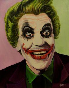 Cesar Romero / Heath Ledger Joker Mash-Up by Lee Howard