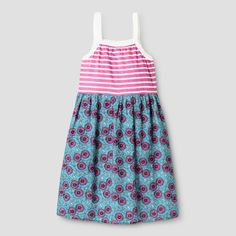 11bc99cc36 Big Girls and Toddler Happy by Pink Chicken Striped Floral Dress - Purple    Target Purple