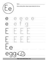 Letter Recognition WorksheetActivities. Printables for tracing and cutting activities. Nice, clean design.