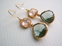 Champagne Drop Earrings by Cate Katan on Etsy