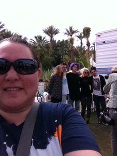 Grouplove selfie. Coachella 2014