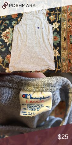 Vintage Champion gray tank Excellent condition! Champion Tops Tank Tops
