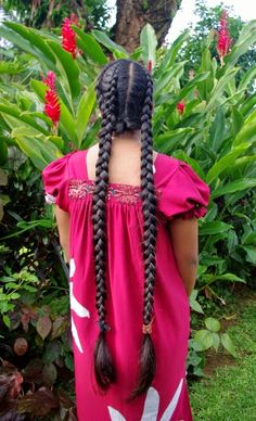 Braids & Hairstyles for Super Long Hair: Micronesian Girl~ Pocahontas Braids