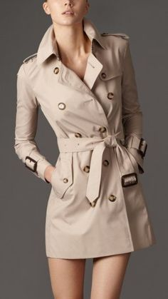 Burberry Mid-Length Wool Twill Trench Coat 38399071 - iLUXdb.com ...