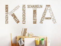 Das Wandtattoo Kita hier entdecken. ❤ Spitzenqualität aus Deutschland | schnelle Lieferung | portofrei (D) bei WANDTATTOO.DE bestellen!