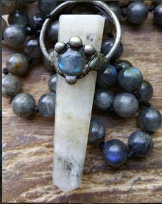 Witch's Moon, moon mala, moon prayer beads, moon magick, witch prayer beads, witch mala, pagan prayer beads, pagan mala, wicca prayer beads by MagickAlive on Etsy