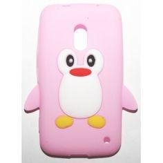 Lumia 620 vaaleanpunainen pingviini silikonisuojus. Phone Cases, Phone Case