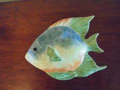1 CERAMIC TROPICAL FISH WALL PLAQUE Pretty Fish, Fish Wall Art, Tropical Fish, Wall Plaques, Ceramics, Animals, Ceramica, Pottery, Animales