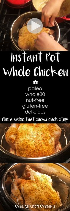 How to Video: Instant Pot Whole Chicken. In this video and recipe, I show you how to make Instant Pot Whole Chicken from start to finish!