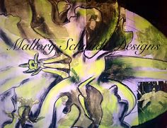 Original large wall art painting Mixed media by MSchmidtDesigns