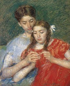 Crochet Class by Mary Cassatt (1844-1926)