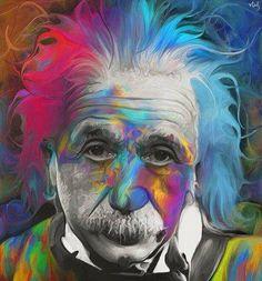 Pop Art Albert Einstein by *NickyBarkla Art And Illustration, Arte Pop, Psychedelic Art, Ale Giorgini, Psy Art, Art Store, Albert Einstein, Oeuvre D'art, Trippy