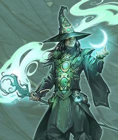 The Mage by Aleks Petruk : ImaginaryWizards Fantasy Wizard, Fantasy Warrior, Fantasy Rpg, Fantasy Artwork, Dark Fantasy, Fantasy Character Design, Character Design Inspiration, Character Concept, Character Art