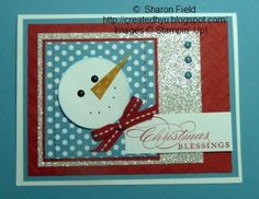 Clean and Simple Snowman Head... another fun card from Createdbyu.blogspot