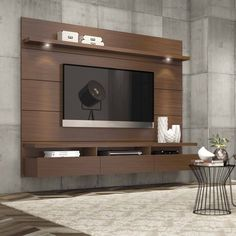 "Buy Manhattan Comfort Cabrini 1.8 Floating Wall Theater Entertainment Center for TVs up to 60"", Multiple Colors at Walmart.com"