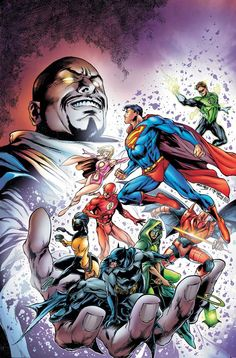 Justice League and Tangent Comics by Ivan Reis