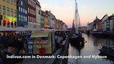 This is Nyhavn, a channel in Copenhagen, Denmark, after sunset, surrounded with beautiful colourful buildings. It is a famous tourist sight worth visiting. Colourful Buildings, Copenhagen Denmark, Times Square, Colours, Sunset, Youtube, Travel, Beautiful, Viajes