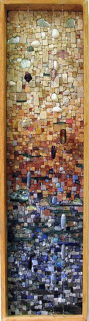 Recortar peças como mosaico, para painel? Fotografar para lembrar posições do puzzle.