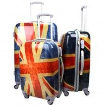 Extra Light Large Medium Small 4 Wheel Travel Trolley ABS Luggage Suitcase Bag Set 3
