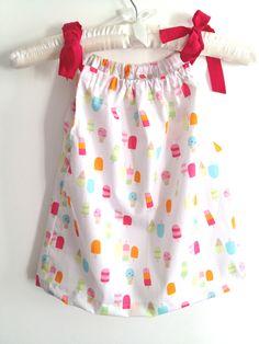 Ein supersüßes Babykleidchen mit fröhlichen Sommermotiven aus Baumwolle und mit verstellbaren Trägerchen  *Schaut doch auch mal in meinem Shop fü...