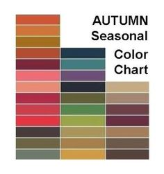 Autumn color chart by tracy.p.farrington