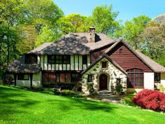 Tudor-style home in the Village of Flower Hill, New York