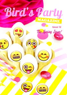 Party Ideas, Free Printables, Recipes and Crafts for Spring and Easter - Bird's Party Magazine Issue 12