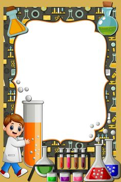 Chemistry Projects, Happy Birthday Png, Fiesta Mickey Mouse, Bee Pictures, Frame Border Design, Kindergarten Design, Science Background, School Frame, Cute Frames