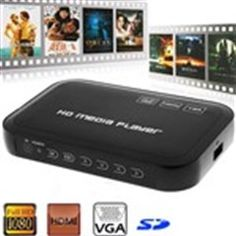 1080P Full HD Media Player Flash Play System with AV YPbPr USB Host SD HDMI VGA for HDTV High Definition TV