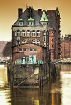 The Speicherstadt—the largest warehouse district in the world—in Hafen Hamburg (Port of Hamburg), Hamburg, Germany Hamburg City, Hamburg Germany, Places To Travel, Places To See, Places Around The World, Around The Worlds, Beautiful World, Beautiful Places, Famous Castles