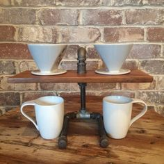 Reclamation Administration / Two Cup Reclaimed Wood Coffee Pour Over Stand by BrewingWorkshop - On Etsy - Reclamation Administration