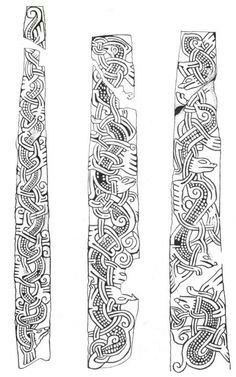 Jellinge Anglo Images Viking, Celtic Symbols, Celtic Art, Celtic Designs, Viking Designs, Celtic Patterns, Viking Pattern, Old Norse, Norse Vikings