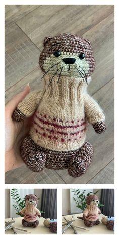 Crochet Animal Patterns, Stuffed Animal Patterns, Crochet Patterns Amigurumi, Crochet Animals, Crochet Stitches, Amigurumi Toys, Free Toy Knitting Patterns, Crochet Diy, Crochet Gifts