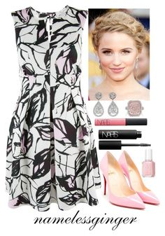 sparks fly by namelessginger on Polyvore featuring polyvore fashion style Closet Christian Louboutin NARS Cosmetics Essie clothing