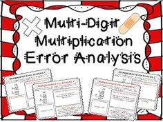 Multi-Digit Multiplication Error Analysis! Engage your students with 8 Error Analysis worksheets for multi-digit multiplication (traditional algorithm). I began creating Error Analysis sheets for my students after reading about Marzano's New Taxonomy, or Systems of Knowledge. Under Analysis, he lists Error Analysis as an exceptional to promote thinking and learning. $