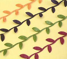Leaf Ribbon - 10 yard spool