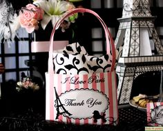 I Love Paris Party  Pink and Black Elegant Gift by FrolicParties