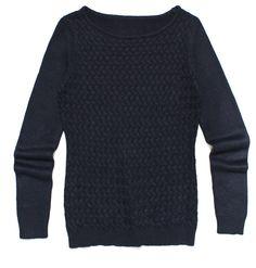 ft-74, czarny sweter z plecionym wzorem